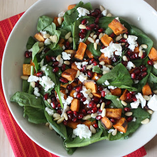 Sweet Potato, Pomegranate, Feta Salad