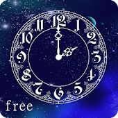 Space Clock Live Wallpaper