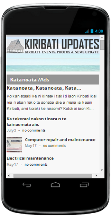 Kiribati Updates :  Current & Breaking News- screenshot
