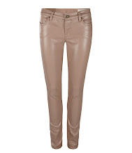 Photo: Petrel Brodie: Vintage Pink>>  UK>http://bit.ly/KfFQb1 US>http://bit.ly/PccfDo  A low rise extreme skinny fitting jean made using high shine coated stretch denim. The Petrel Brodie has a shorter inseam which twists to the back leg with zip detail at the hem. This style features a laundered black leather patch, signature profile stitch on back spade pockets, and signature AllSaints gunmetal metalwork.