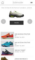 Screenshot of Sneaker Release Dates