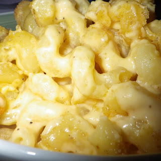 Homemade Baked Macaroni & Cheese.