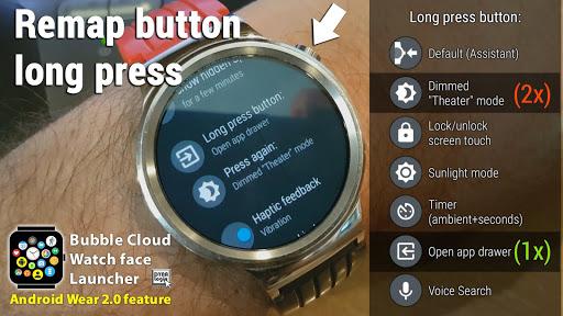 Bubble Cloud Wear Launcher Watchface (Wear OS) 9.39 screenshots 4