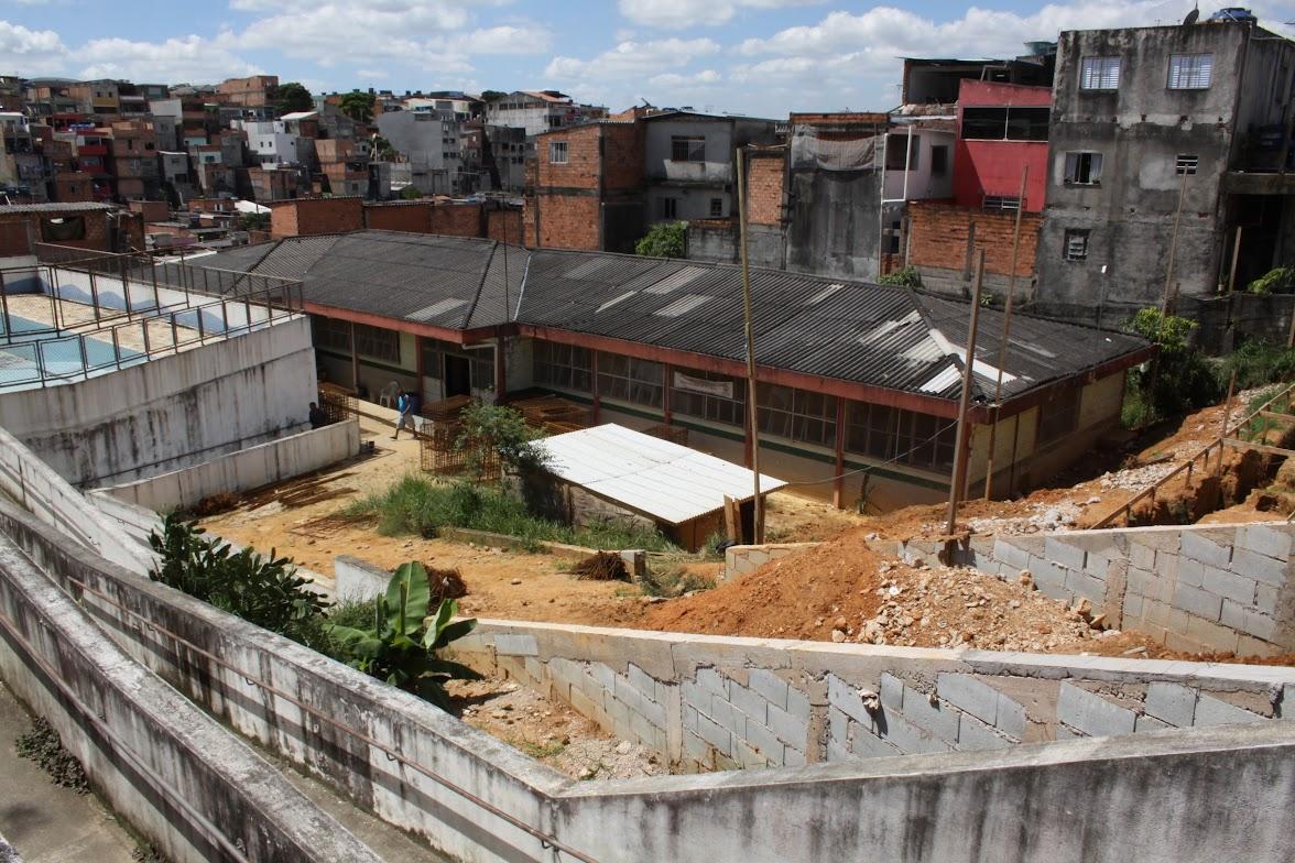 UBS Santa Emília: obras em andamento
