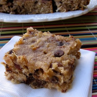 Skinny Banana Coconut Chocolate Chip Bars