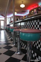 Photo: (Year 2) Day 337 -  The Stools at the Bar in Nifty Fiftys Diner (USA)