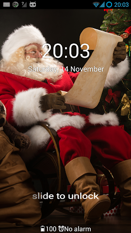 android GO Locker Santa Claus Theme Screenshot 1