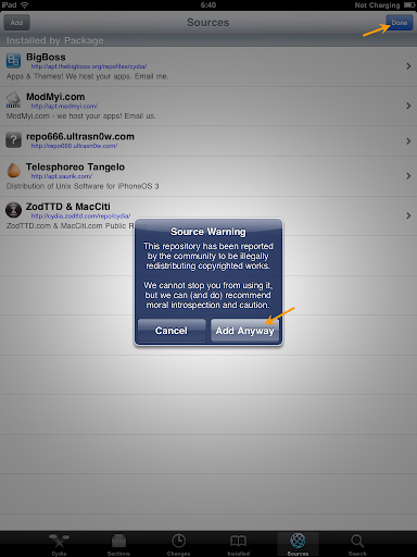 เทคนิคการ Jailbreak iPad iOS version 4.2.1 ด้วย greenpois0n Ipad039