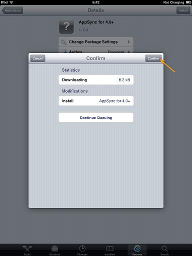 เทคนิคการ Jailbreak iPad iOS version 4.2.1 ด้วย greenpois0n Ipad043