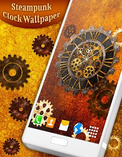 Steampunk Clock Live Wallpaper - náhled