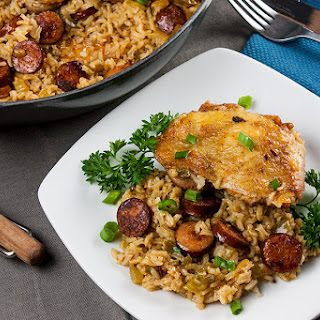 One Pan Chicken and Dirty Rice Recipe