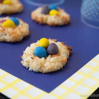 Macaroon Bird's Nest Cookies.