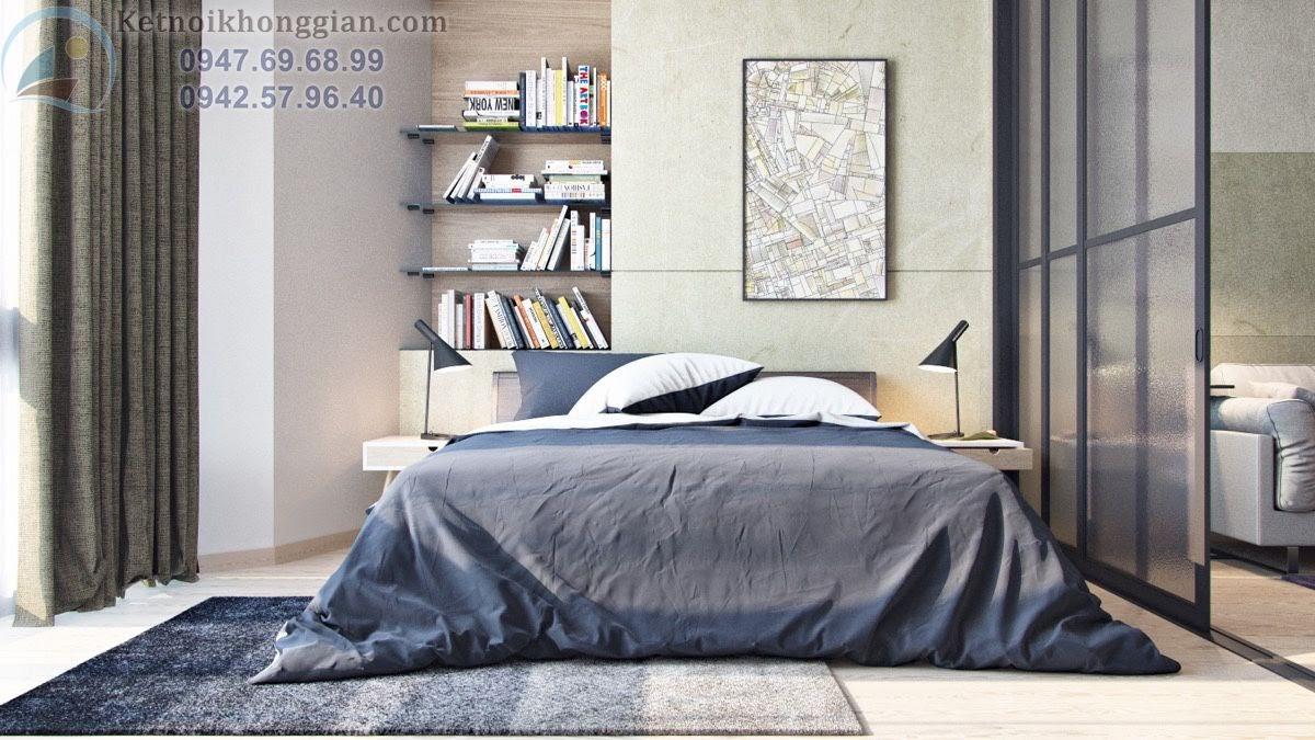 thiết kế căn hộ 45m2, thiết kế phòng ngủ diện tích nhỏ