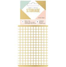 Crate Paper Wire System Metal Storage Bin - Small Gold UTGÅENDE