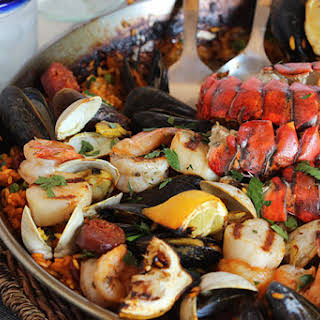 Grilled Seafood Paella.