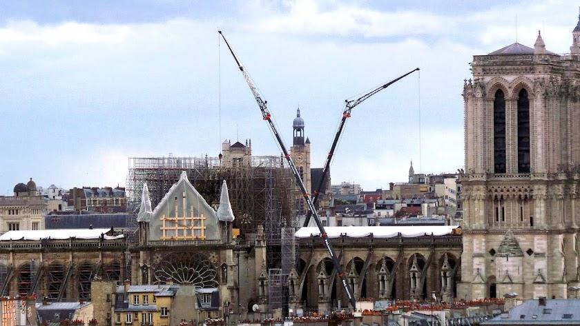 la Catedral  de Notre Dame de París fue pasto de las llamas en un fuego que se declaró el pasado 15 de abril.
