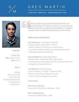 Greg S. Martin - Resume item