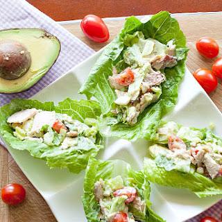 Turkey Cobb Salad Lettuce Wraps.