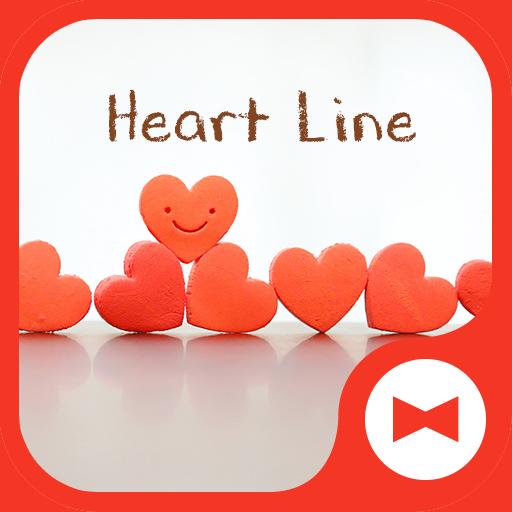Cute Wallpaper Heart Line Theme