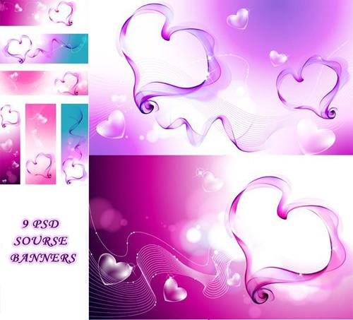 PSD sources - Romantic Heart