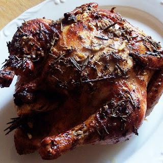 Orange Ginger Herb Roast Chicken.