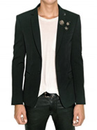 BALMAIN - STRETCH WOOL METAL PIN JACKET