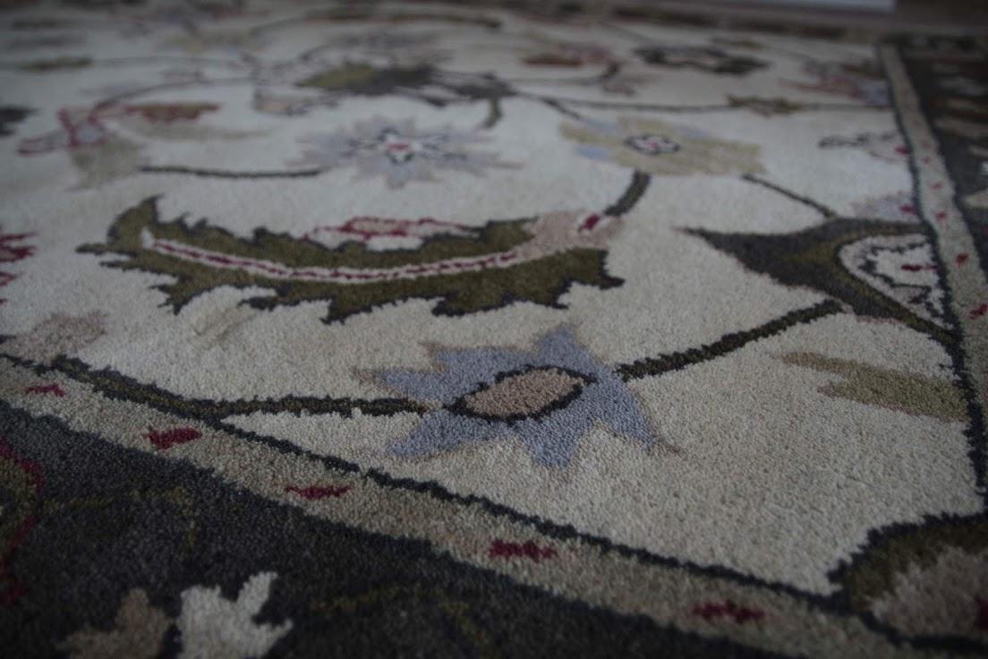 beżowy pastelowy dywan persian ziegler wełniany ręcznie tkany 155x245 tradycyjny kwiatowy