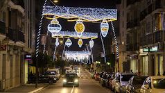 Luces navideñas en Cuevas del Almanzora.