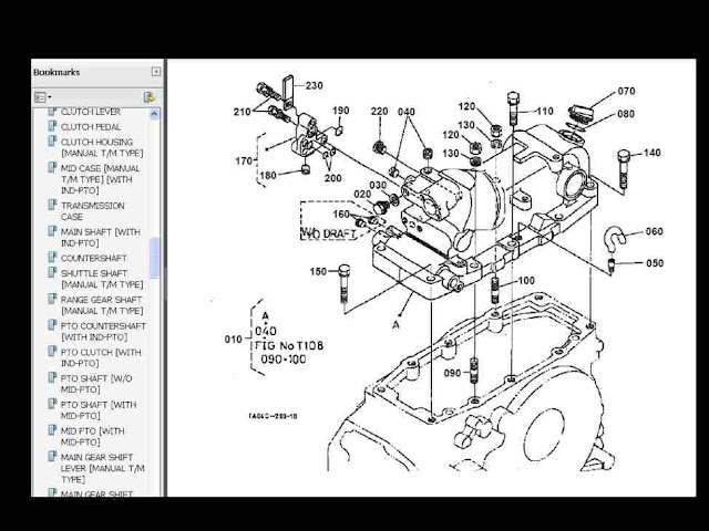 kubota l2900dt l2900f l2900 dt f tractor parts manuals for ... mazda 626 wiring diagram service manual