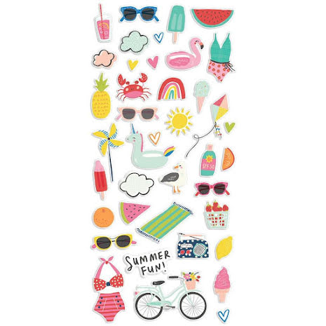 Simple Stories Puffy Stickers - Sunkissed
