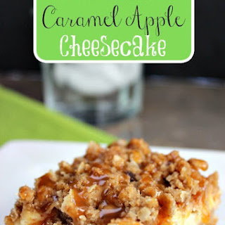 Homemade Caramel Apple Cheesecake.