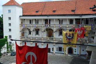 Photo: Dziedziniec zamku w Brzegu z góry