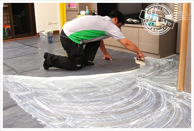 富銘塑膠地板Green-Flor 工班施工