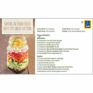 Mason Jar Asian Salad with Soy Ginger Dressing