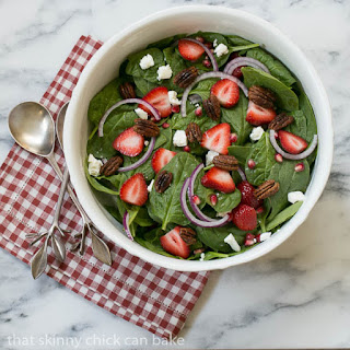 Spinach, Strawberry, Pomegranate, Feta Salad