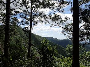 左に笠松山、右に周回予定の尾根