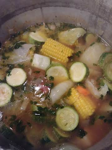 Caldo de pollo or Mexican chicken soup