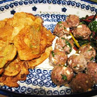 Feta and Parsley Meatballs.