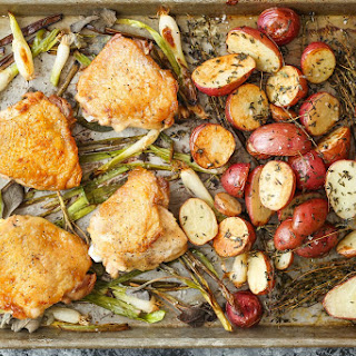 Sheet Pan Chicken with Red Potatoes and Sage.