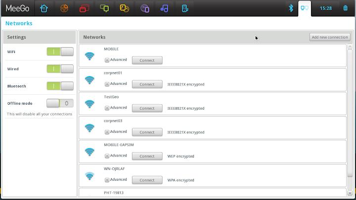 MeeGo 1.2 Network