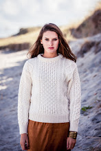 Photo: Lightweight Traditional Aran Wool Sweater -  This Lightweight Traditional Aran Sweater follows in the same style of that of our Traditional Heavyweight style. It features the same unique and traditional Aran Cable & Honeycomb pattern but as hinted in the name, is a much lighter version. This style is perfect for the milder months or those looking to achieve the traditional Aran look with a less chunky knit.  www.aransweatermarket.com/lightweight-traditional-aran-wool-sweater-natural-white