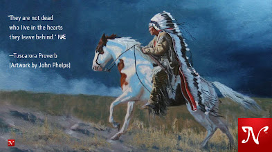 Photo: They are not dead who live in the hearts they leave behind. —Tuscarora Proverb [Artwork by John Phelps]