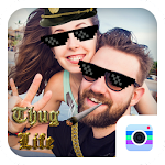 Thug Life Camera-Free coolest motion sticker Icon