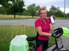 Photo: 7e Dag, woensdag 22 juli 2009 Shellbronn -Melchingen Dag afstand: 81,6 km. Totaal gereden: 664 km Rianne