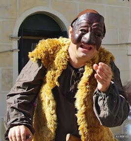 Komödiant beim Granatapfelfest in Arqua Petrarca