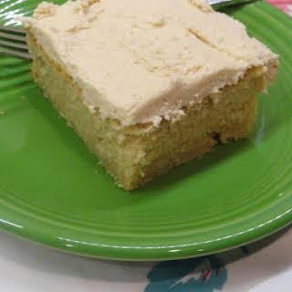 Easy Peanut Butter Cake & Peanut Butter Frosting.