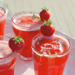 Strawberry Thyme Lemonade.