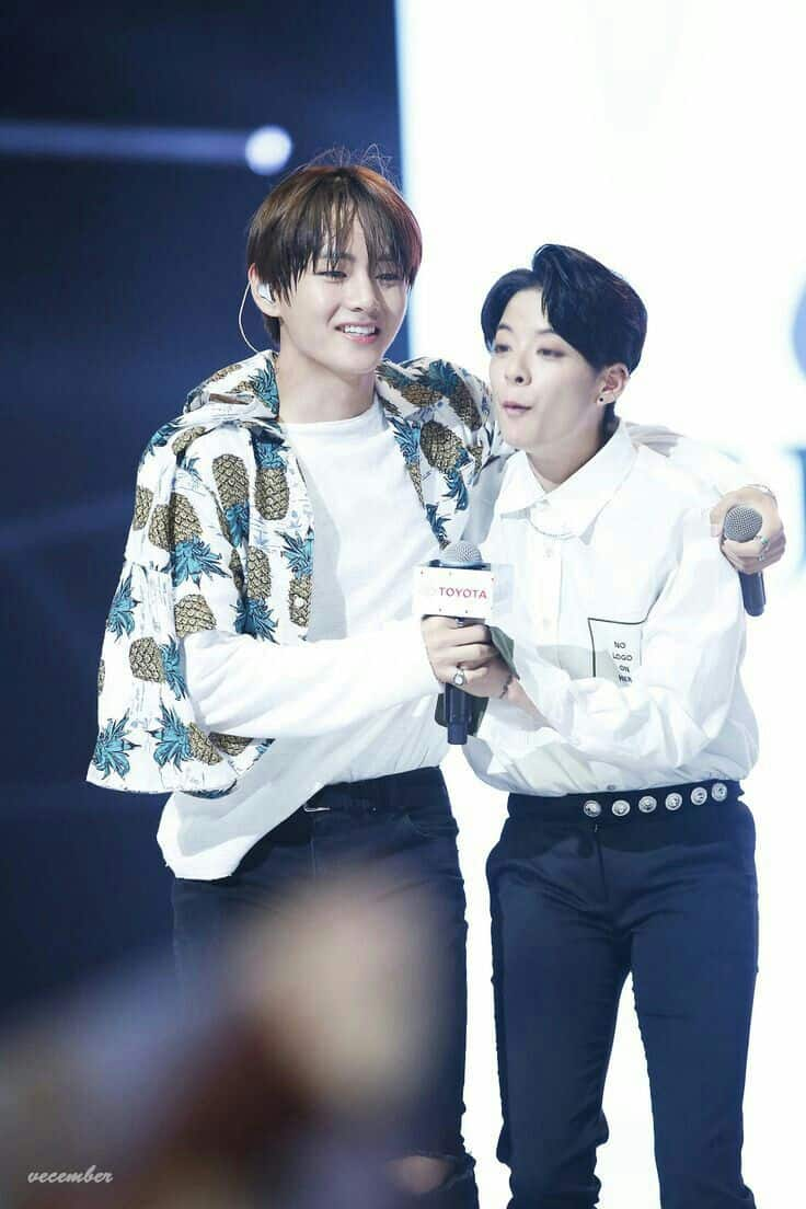 BTS V and F(x) Amber