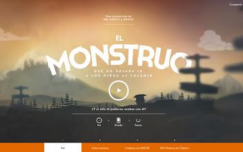 Photo: Site of the Day 2 January 2013 http://www.awwwards.com/web-design-awards/el-monstruo
