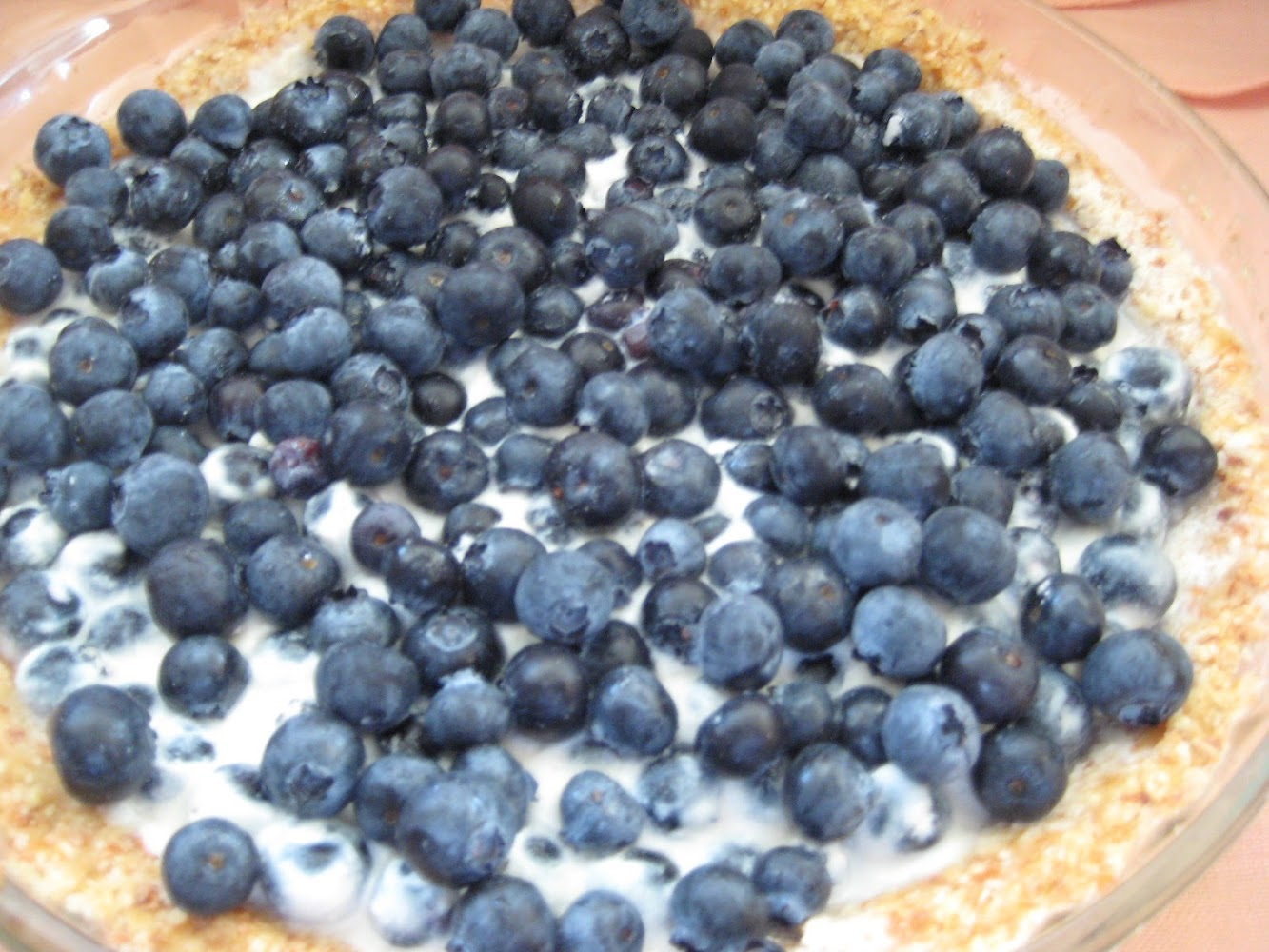 Ode to the Almond- Sour Cream Blueberry Pie